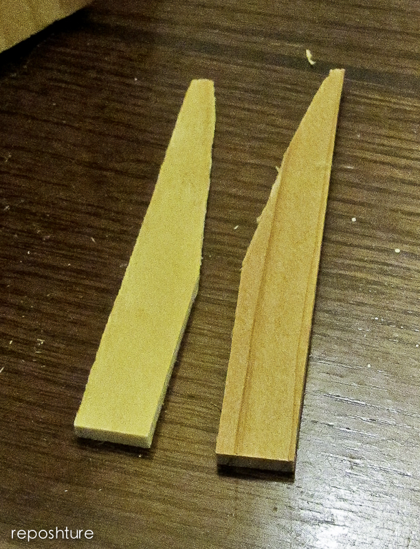 cut the top shims like this and glue at an angle then add to the top
