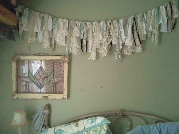 shabby chic garland, bedroom ideas, crafts, home decor, shabby chic