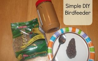 bird feeder diy kid friendly, crafts, outdoor living, How to make a bird feeder Easy tutorial that kids and toddlers can enjoy Full tutorial here