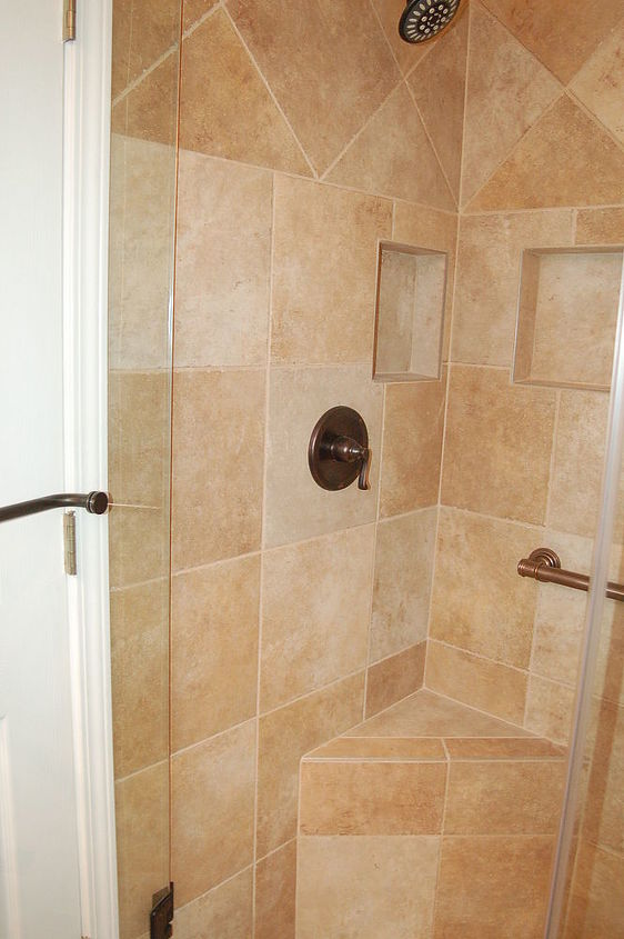 The corrected shower.