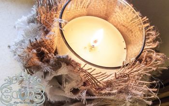 DIY Shabby Candle Covers