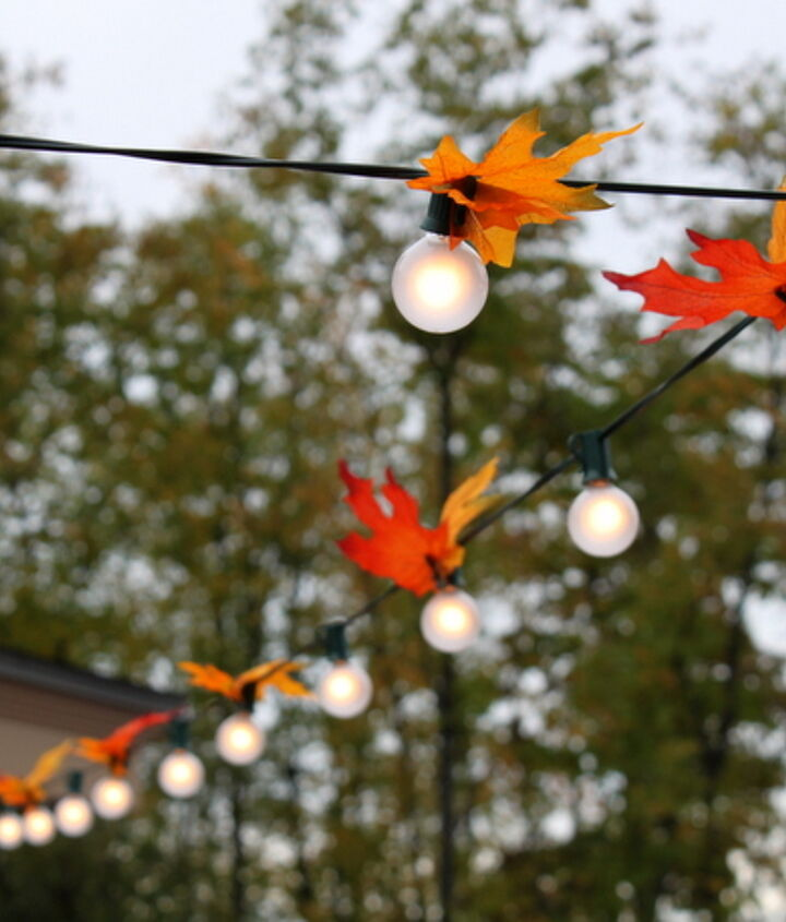 autumn leaf lighting, lighting, patio, seasonal holiday decor