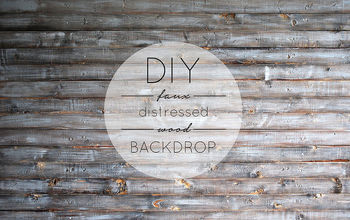 diy faux distressed wood backdrop, diy, painting, wall decor, woodworking projects