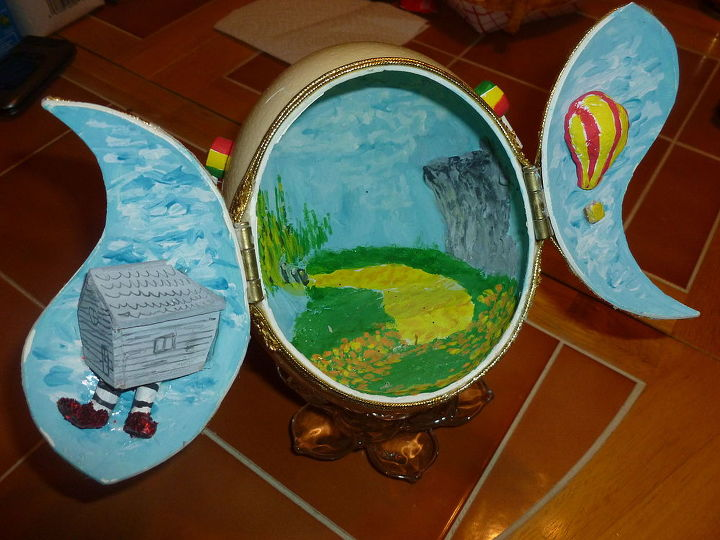 our craft house, crafts, The Wizard of Oz Egg