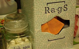 easy recycled storage for your rag stash, cleaning tips, repurposing upcycling, DIY upcycled so simple storage