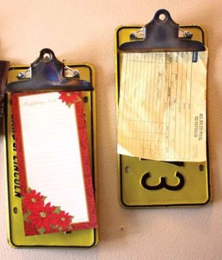 repurposed upcycled license plate clipboards, repurposing upcycling