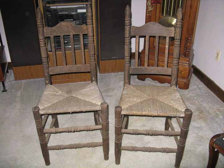 q old nasty ladder back chairs with cane seats, painted furniture,  repurposing upcycling - Old Nasty Ladder Back Chairs With Cane Seats Hometalk