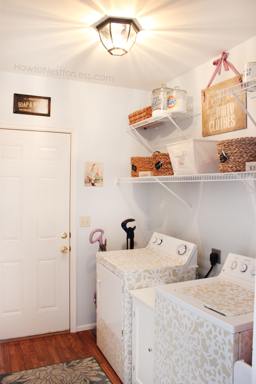 Laundry room makeover on a strict budget.