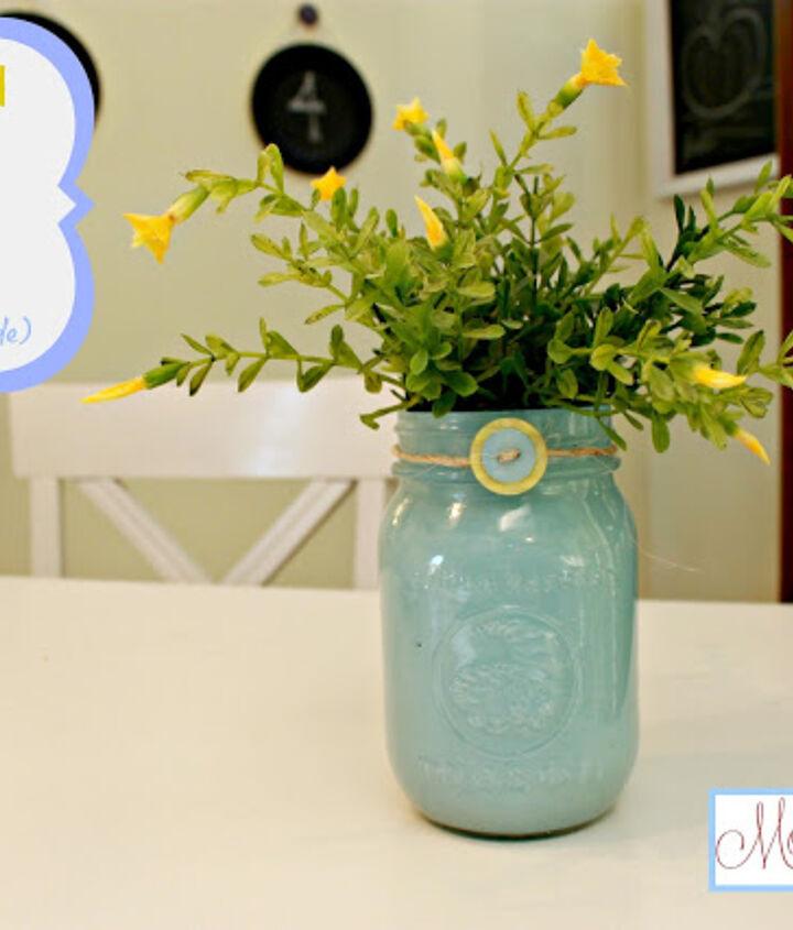 painted mason jar vases paint on the inside, crafts, mason jars, painting