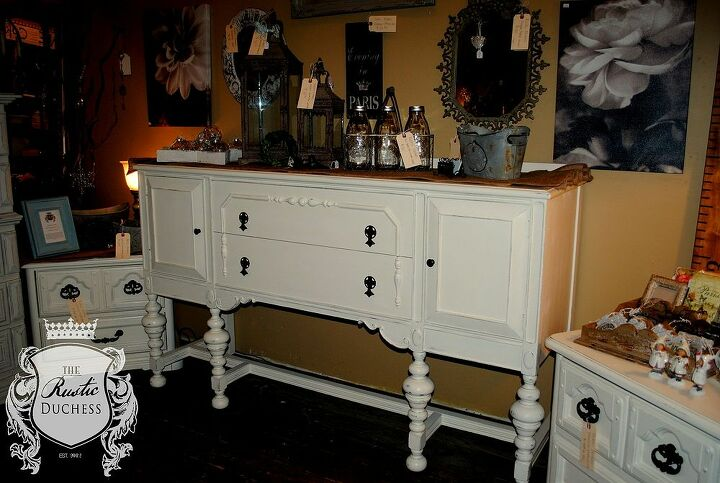 1930 s buffet update, painted furniture, repurposing upcycling, rustic furniture