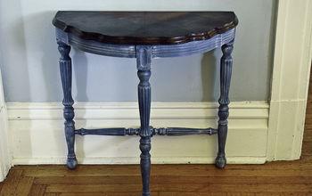 Little Blue Side Table Re-do