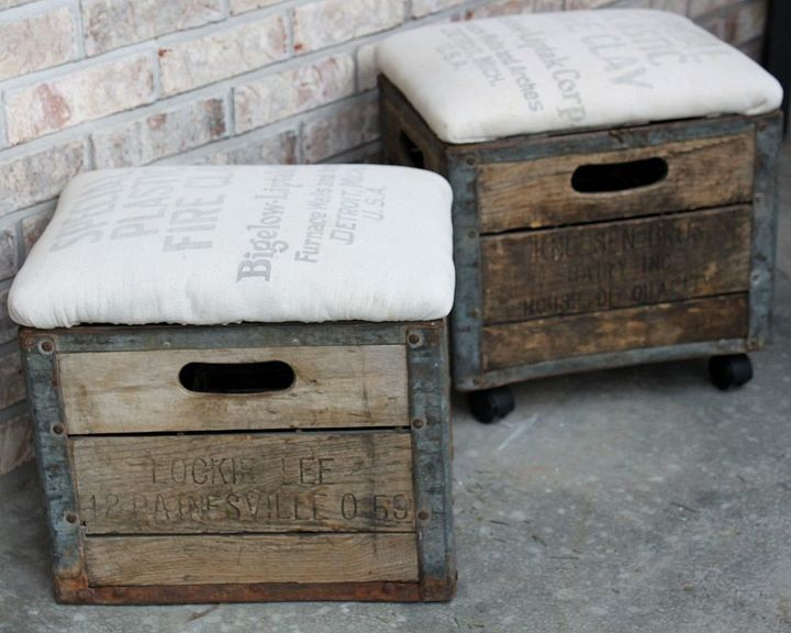 check into at vintage footstool storage wooden ikea ottomans wood crate leather a yellow turn modern upholstered with furniture ottoman out
