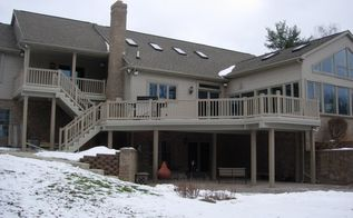 curious about the affect snow can have on the safety of your deck, decks, home maintenance repairs