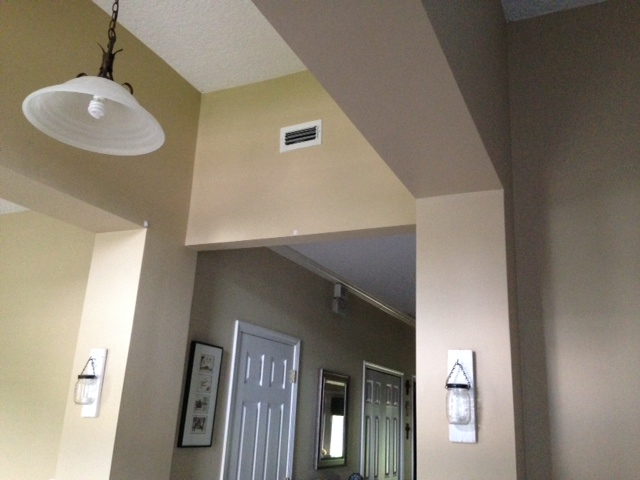 q casing ideas, foyer, home decor, wall decor, from playroom front door to kitchen area