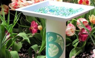 how to make a birdbath, diy, gardening, how to, pets animals