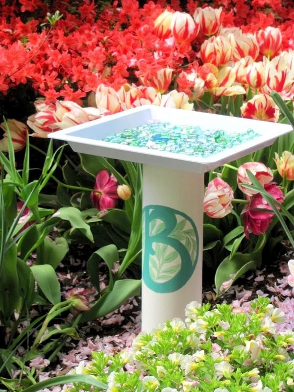 how to make a birdbath, diy, gardening, how to, pets animals