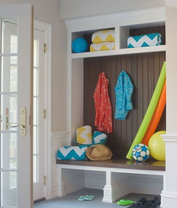 Mudroom entry to basement renovation by Titus Built, LLC