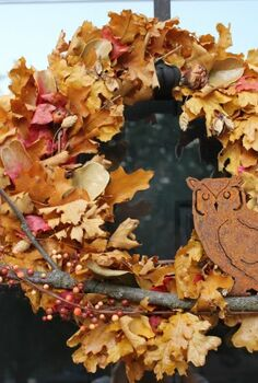 fall decor ideas, seasonal holiday d cor, wreaths, Fall wreath