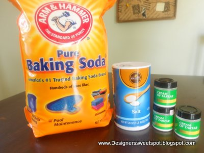 I use baking soda, salt and cream of tartar to clean my drains.