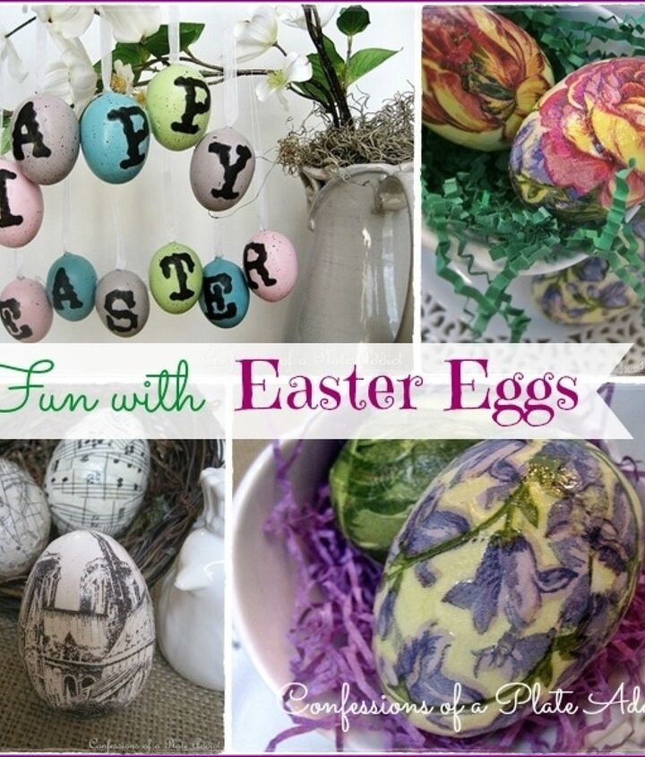 Three different methods and three different inspirations for making fun découpage Easter eggs