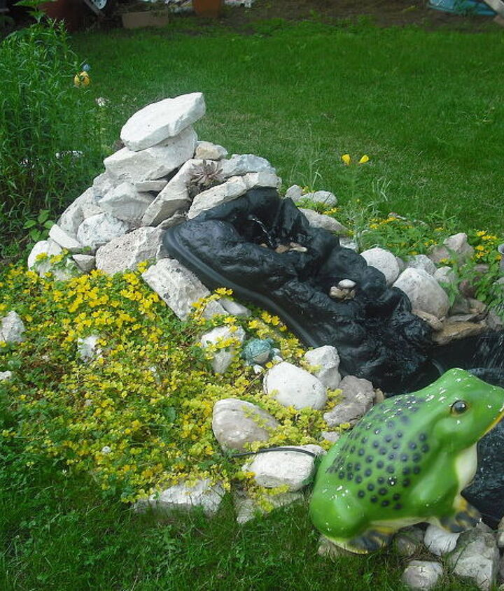Pond I made six weeks after my cancer operation and carried every single stone....haha