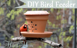 diy bird feeder from a flower pot, crafts, flowers, gardening, repurposing upcycling, My Cardinals love this cute DIY Terra Cotta Bird Feeder