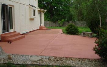 diy painting concrete patio, concrete masonry, diy, painting