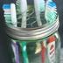 mason jar toothbrush holder, crafts, mason jars, repurposing upcycling