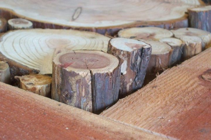 burl floor handmade, diy, flooring, woodworking projects, The are placed within the framework
