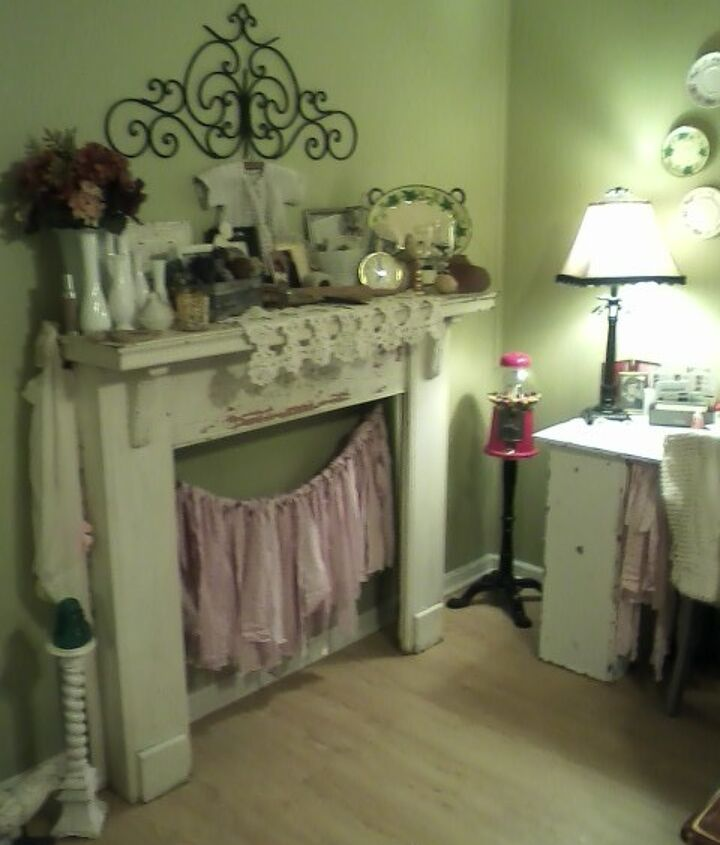 wonderful find very old chippy fireplace front so excited, fireplaces mantels, home decor, repurposing upcycling