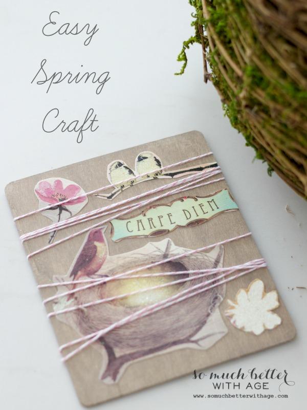 easy spring craft, crafts, decoupage, seasonal holiday decor