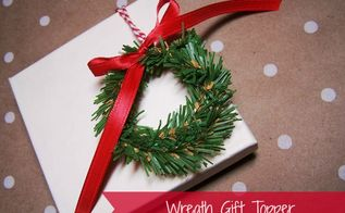 how to make mini wreath gift toppers, crafts, seasonal holiday decor, wreaths, This is a quick and easy project to dress up your holiday packages
