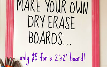 DIY White Boards for $5!