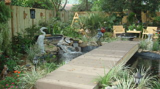 create a backyard oasis with a pond, landscape, outdoor living, ponds water features, This is a picture of our pond