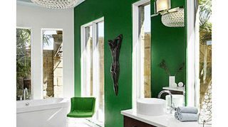 emerald green room, home decor