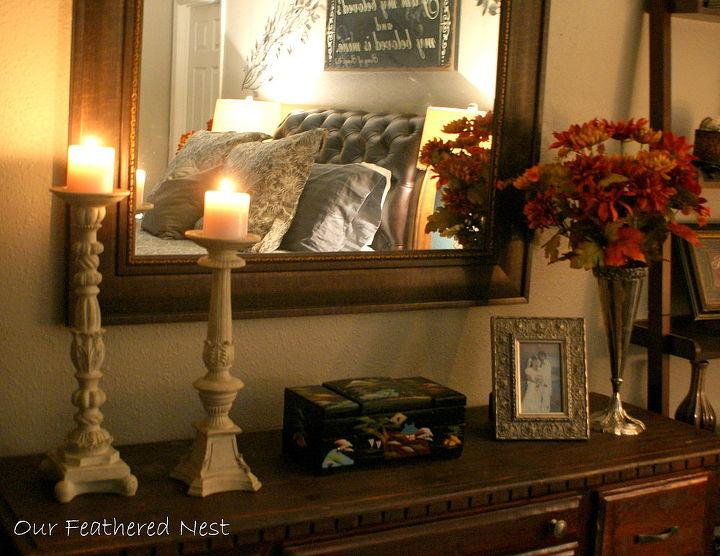 fall for the master bedroom, bedroom ideas, seasonal holiday decor