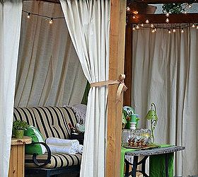 Drop Cloth Curtains Patio Makeover, Home Decor, Outdoor Living, Patio,  Reupholster,