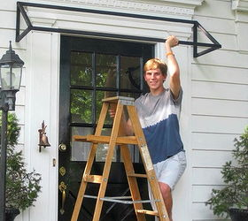 Superbe Diy Striped Awning, Curb Appeal, Diy, How To, A High School Welding