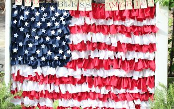 Fourth of July Rag Flag Window