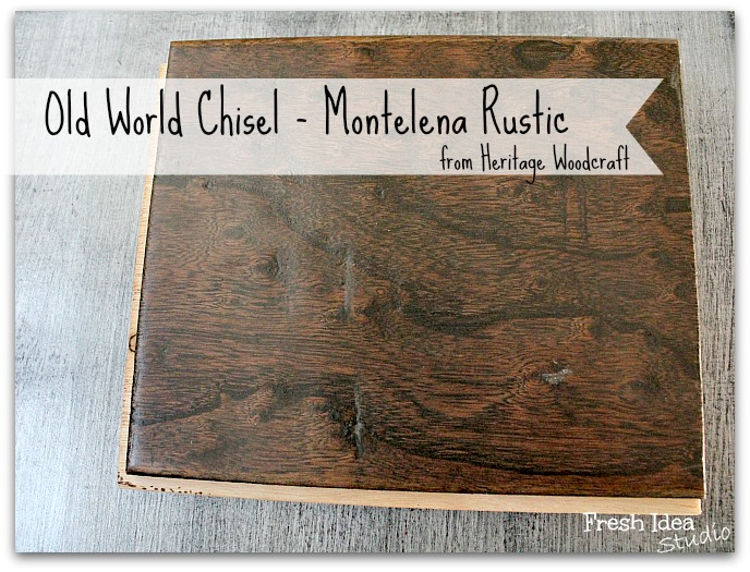 And, why we went with something rustic from Heritage Woodcraft's Old World Chisel collection.