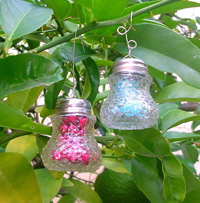 crystal ornaments made from vintage salt shakers, christmas decorations, repurposing upcycling, seasonal holiday decor, I snap up shakers at yard sales and thrift shops all year keep your eyes peeled and collect a bunch Hope you give this a try