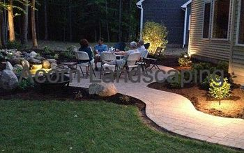 Amazing Backyard Waterfall Fish Pond with Paver Patio transformation Greece NY by Acorn Landscaping, Rochester NY