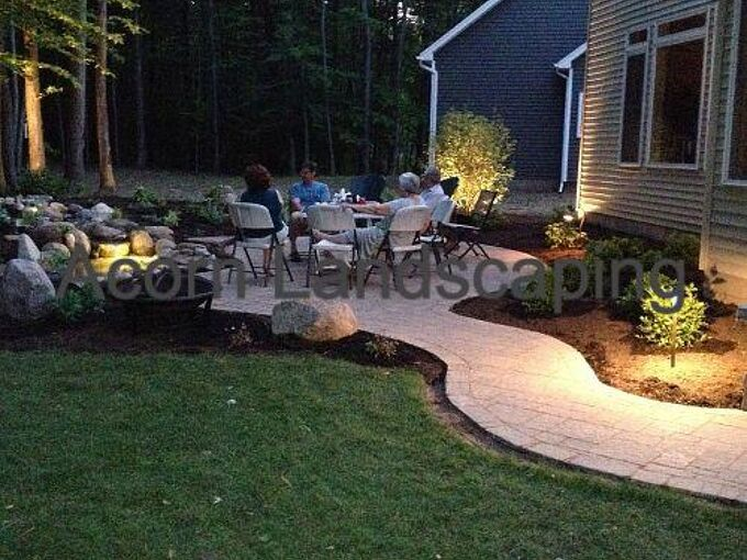 amazing backyard waterfall fish pond with patio transformation greece ny by acorn, outdoor living, patio, ponds water features, For more info on this project click