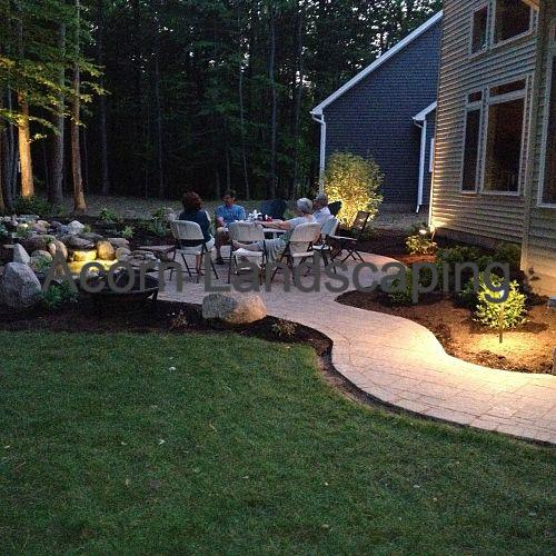 For more info on this project, click https://www.facebook.com/notes/acorn-landscaping-landscape-designlightingbackyard-water-gardens/landscaping-design-greece-ny-paver-patio-backyard-fish-pond-steps-landscape-ligh/386736208030174