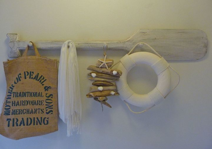 coastal entry driftwood mobile, crafts, wall decor, driftwood mobile