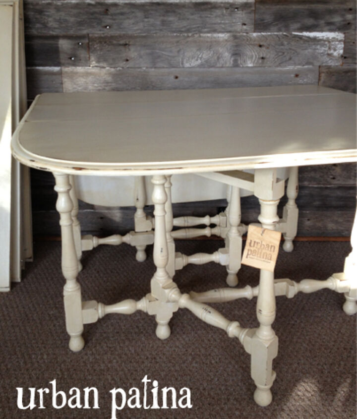 garden chairs and gateleg table makeover, chalk paint, painted furniture