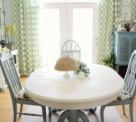 Dining Room Table and Chairs Makeover with