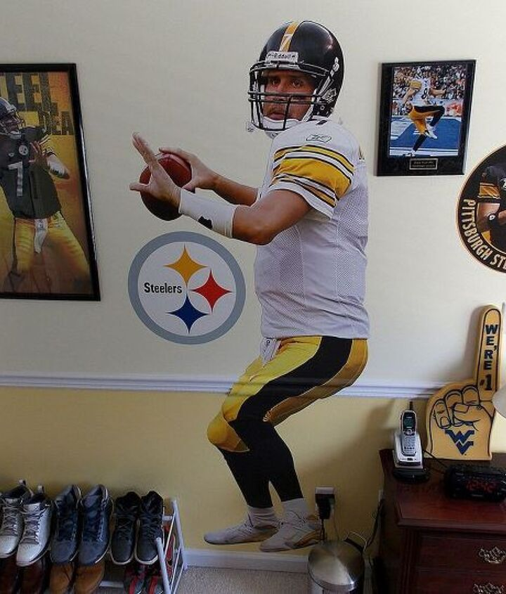 a pittsburgh steeler s bedroom, bedroom ideas, home decor
