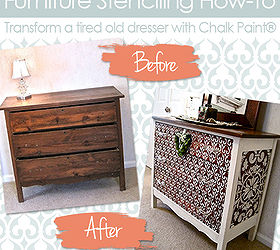 How To Stencil Wood Furniture With Chalk Paint Decorative Paint, Painted  Furniture, Furniture Stencil
