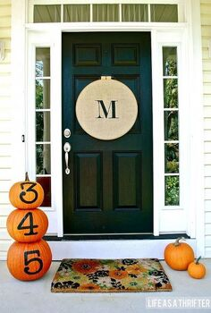 fall doors, curb appeal, outdoor living, seasonal holiday decor